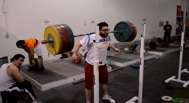 Max Aita strapped to 600lbs