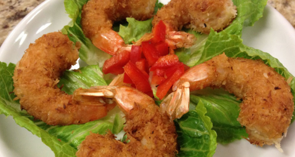 Ultra Low-Carb Coconut Fried Shrimp