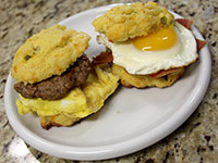 ULC Breakfast Sandwiches Recipe Step 5: Eat up!