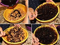 ULC Puppy Chow Recipe Step 5: Coat pork rinds