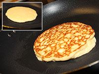 ULC Almond Flour Pancakes Recipe Step 7: Flip - CAREFULLY!